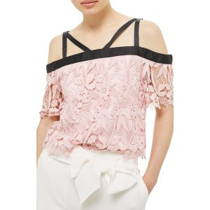 Topshop Strappy Lace Top | Nordstrom
