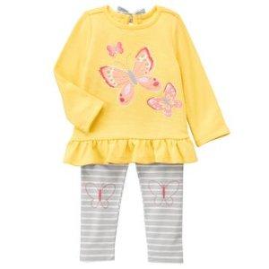 Toddler Girls Lemon Yellow Butterfly Set by Gymboree