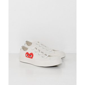 Comme des Garçons PLAY Converse Chuck Taylor Low Top in Beige