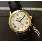 Raymond Weil Maestro Silver Dial Black Leather Men's Watch