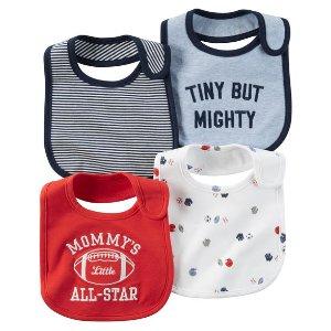 Baby Boy 4-Pack Teething Bibs | Carters.com