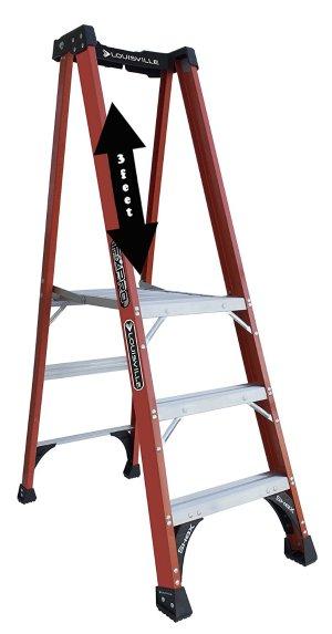 Louisville Ladder FXP1803HD Fiberglass Pro Platform Ladder
