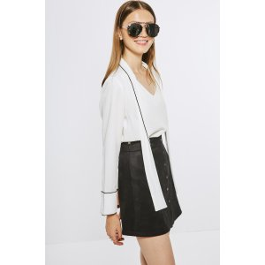 White Blouse with Tie Front TP1584