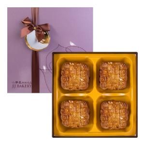 Yamibuy- 美国JJBAKERY小雅屋 中秋月饼礼盒 莲蓉双黄大月饼 4枚入