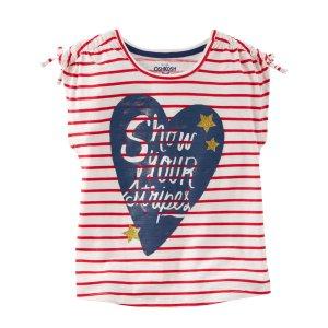 Kid Girl Show Your Stripes Tee | OshKosh.com