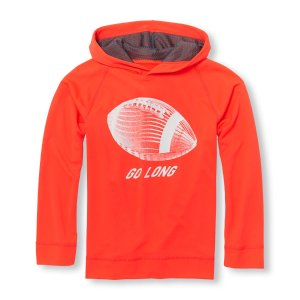 Boys PLACE Sport Long Sleeve Graphic Mesh Hoodie | The Children's Place