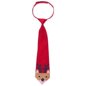 Boys Holly Red Reindeer Tie by Gymboree