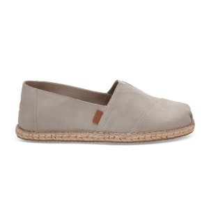 Drizzle Grey Suede Blanket Stitch Men's Classics | TOMS®