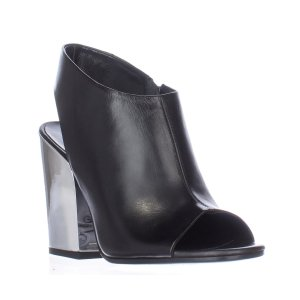 Alexander Mcqueen Alexander Mcqueen 100 M Sling-Black Open-Toe Sandals - Black (435300701) | Bluefly.Com