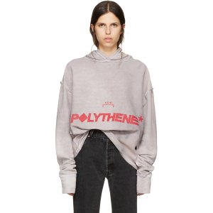 A-Cold-Wall*: Reversible Grey Logo Polythene Hoodie