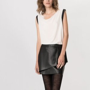 GREACTIF Top in silk with lurex details - Tops & Shirts - Maje.com