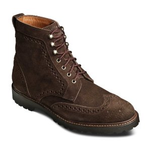 Saukville Suede Wingtip Lace-up Boot by Allen Edmonds