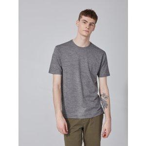 Frank + Oak SC Merino-Jersey T-Shirt in Grey Melange | Frank And Oak