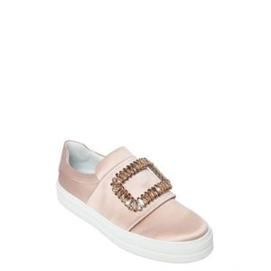 ROGER VIVIER - 30MM SNEAKY VIV LEATHER SNEAKERS