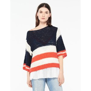 Loose-fitting striped sweater