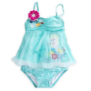 Elsa Deluxe Swimsuit for Girls - 2-Piece | Disney Store