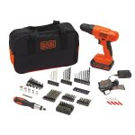 BLACK+DECKER 20-Volt MAX Lithium-Ion Drill Kit with 100 Accessories