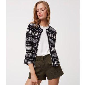 Geo Knit Jacket | LOFT
