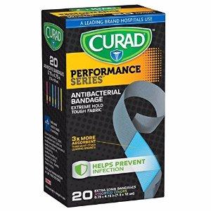$1.13Curad 极致抗菌面料超长创口贴 20个