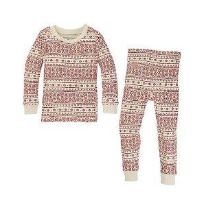 Baby Fair Isle Organic Cotton Pajamas