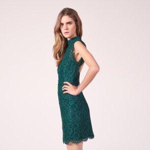 Short Lace Backless Dress - New Arrivals - Sandro-paris.com