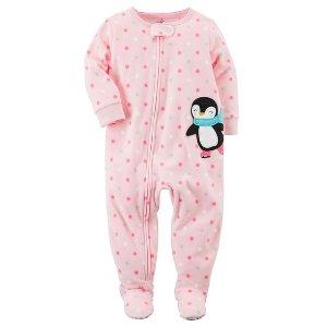 1-Piece Penguin Fleece PJs