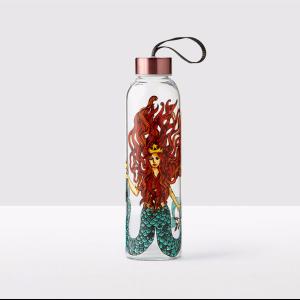 Siren Glass Water Bottle