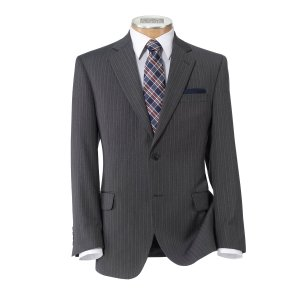 Executive Collection Traditional Fit 2 Button Stripe Suit CLEARANCE - All Clearance | Jos A Bank