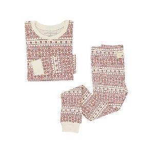 Big Kids Fair Isle Organic Cotton Pajamas