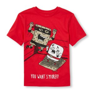 Boys Short Sleeve 'You Want S'More' Graphic Tee | The Children's Place