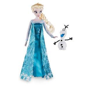 Elsa Classic Doll with Olaf Figure - 12'' | Disney Store