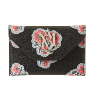 Alexander Mcqueen Alexander Mcqueen Insignia Envelope Leather Card Holder (434474801) | Bluefly.Com