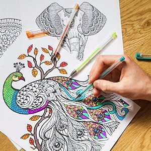 Lightning deal $12.65 (Orig$39.99 )120 Gel Pens by Color Technik