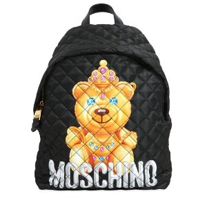 LARGE TEDDY BEAR QUILTED NYLON BACKPACK