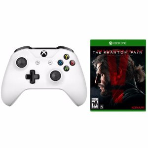 xBox One S White Wireless Controller +Metal Gear Solid V: Phantom Pain Bundle | eBay