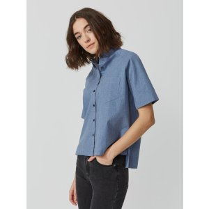 Midi Oxford Shirt in Midnight Blue Heather | Frank + Oak