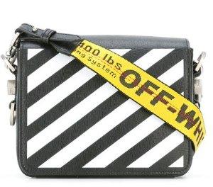 OFF-WHITE  diagonal flap shoulder bag @ Farfetch