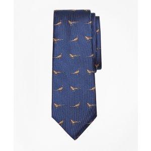 Pheasant Print Silk Tie - Brooks Brothers
