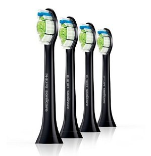 $26Philips DiamondClean Black Replacement Heads – 4 Pack