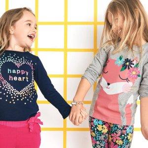 $7起+满$30减$10Carter's 儿童图案上衣、长裤特卖