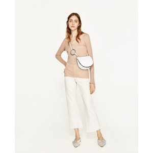 JOIN LIFE OVAL CROSSBODY BAG WITH RING DETAIL - View all-BAGS-WOMAN | ZARA United States