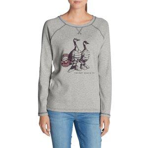 Women's Legend Wash Graphic Sweatshirt   Eddie Bauer