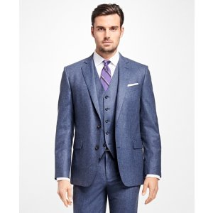 Regent Fit Three-Piece Flannel 1818 Suit - Brooks Brothers