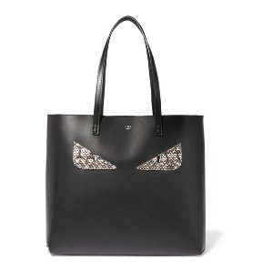 Elaphe-trimmed leather tote