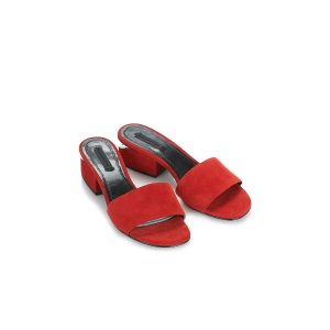 LOU SUEDE SANDAL WITH RHODIUM | FLATS