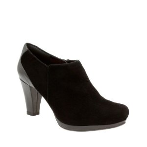 Chorus True Black Suede - Women's Heels - Clarks® Shoes Official Site