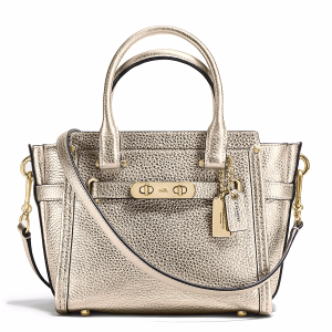 Swagger Satchel 21 in Metallic Pebble Leather
