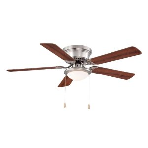 Hugger 52 in. Brushed Nickel Ceiling Fan-AL383-BN - The Home Depot
