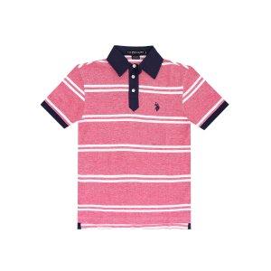 Striped Birdseye Polo Shirt