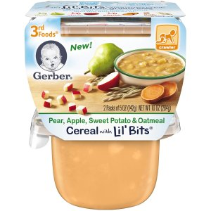 $4.1Gerber 3rd Foods Lil Bits Pear, Apple, Sweet Potato & Oatmeal Baby Food, 6 Count
